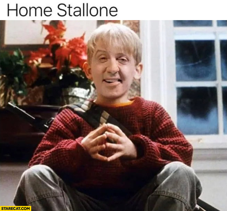 Home stallone home alone with Sylvester Stallone