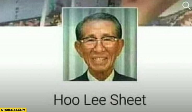 Hoo lee sheet facebook name