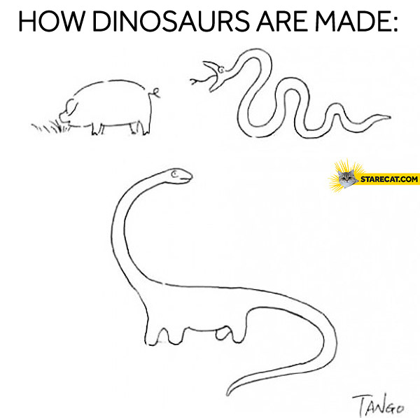 How dinosaurs are made pig snake