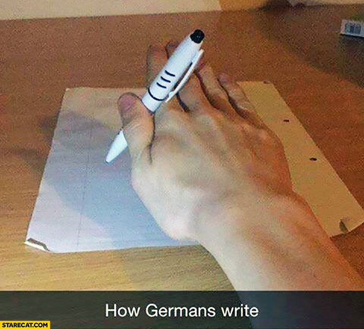 How Germans write nazi salute hand meme