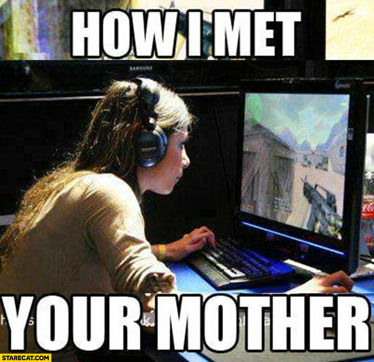 How I met your mother girl playing Counter-Strike