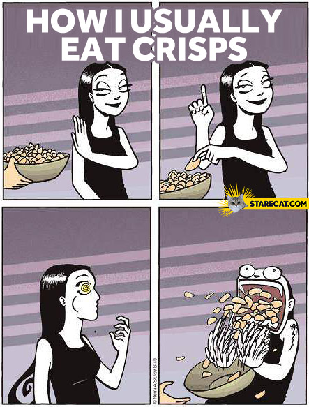 How I usually eat crisps