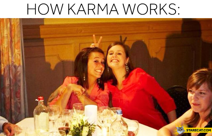 How karma works finger horns