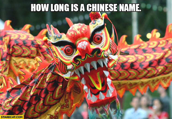 How long is a chinese name