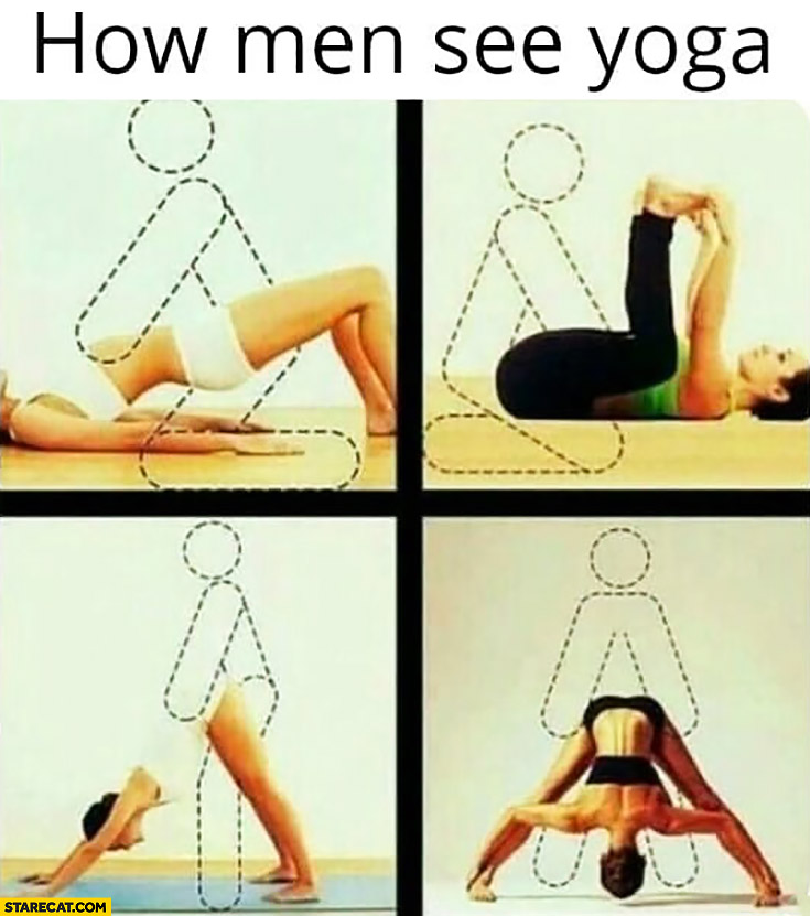How men see women's yoga positions