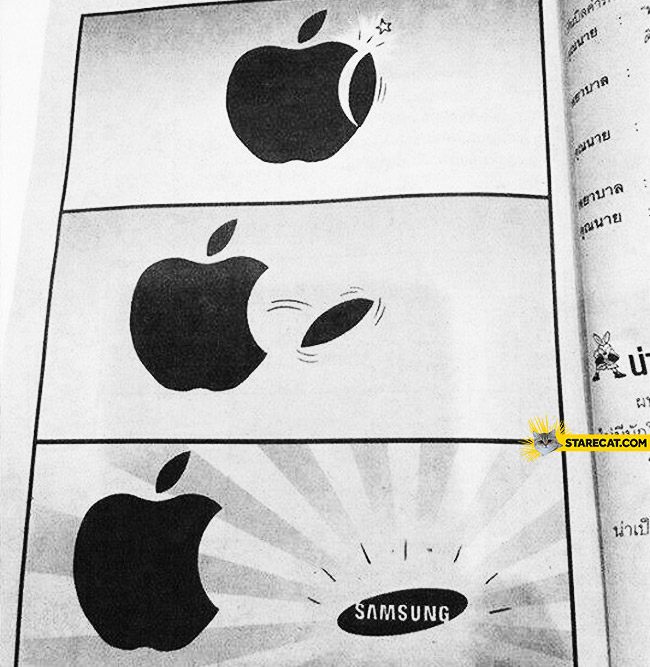 How Samsung logo was made, part of Apple logo