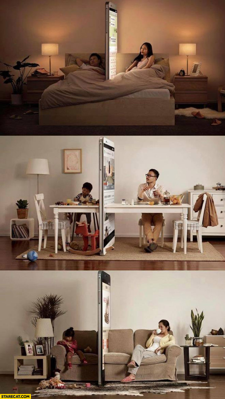 How smartphones separate family creative social campaign