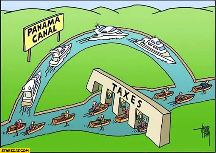 How taxes are avoided panama canal creative illustration boats