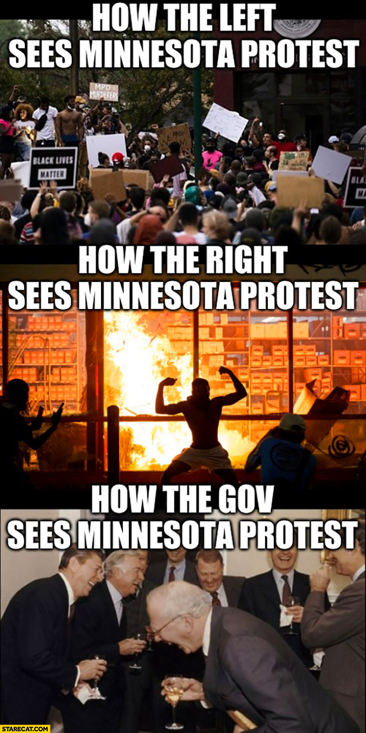 How the left sees Minnesota protest, how the right sees it and how government sees it