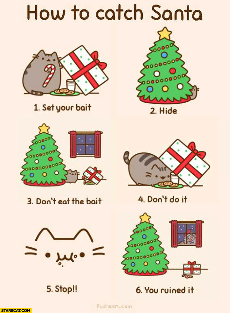 How to catch a santa pusheen