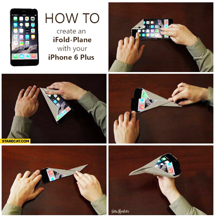 How to create iFold plane with iPhone