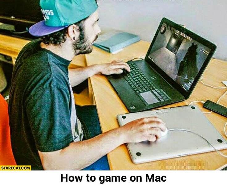 How to game on Mac using MacBook as mousepad