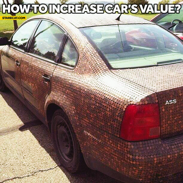 How to increase car's resale value coins
