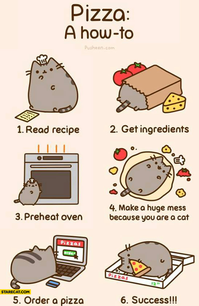 How to make a pizza pusheen