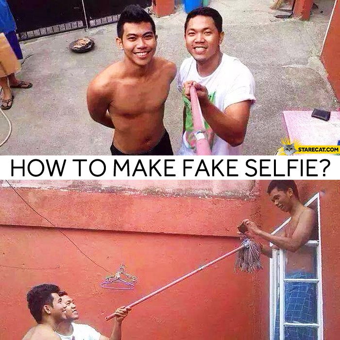 How to make fake selfie?