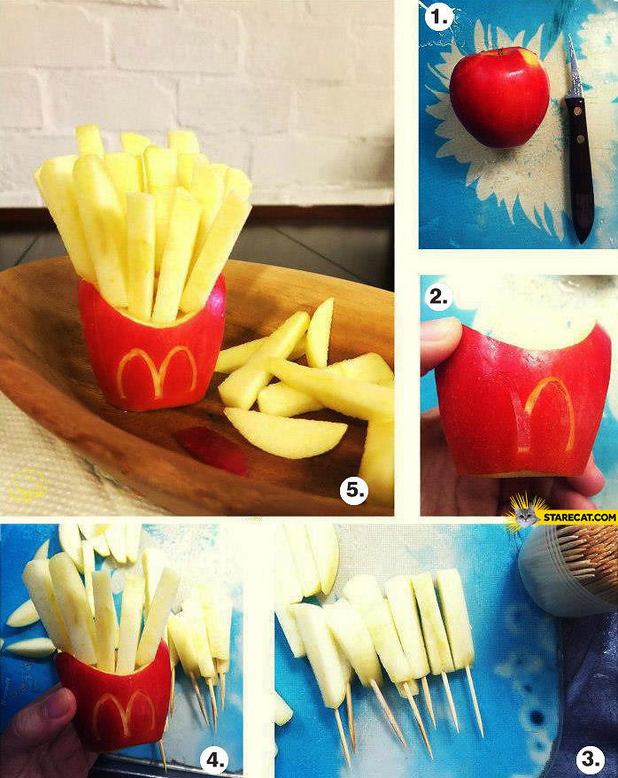How to make french fries from apples