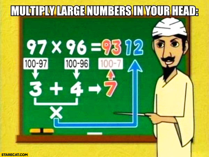 How to multiply large numbers in your head