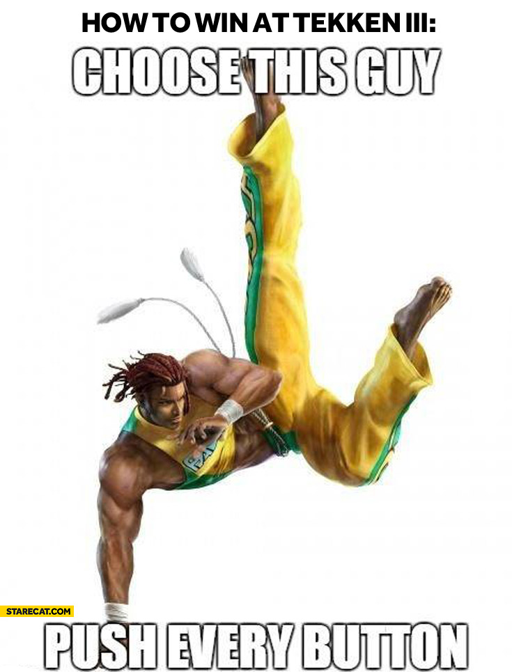 How to win at Tekken 3 choose this guy push every button