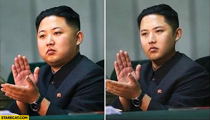 How would Kim Jong Un look if he wasn't fat photoshopped slim skinny version