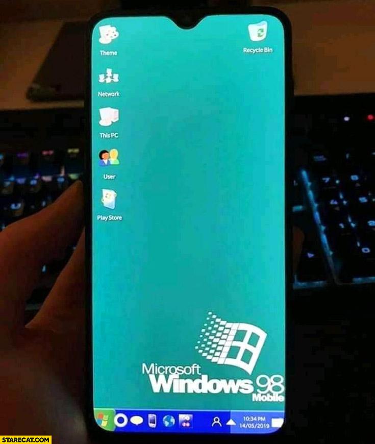Huawei phone after Google ban Windows 98 mobile