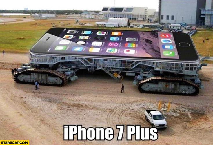 Huge iPhone 7 plus visualisation
