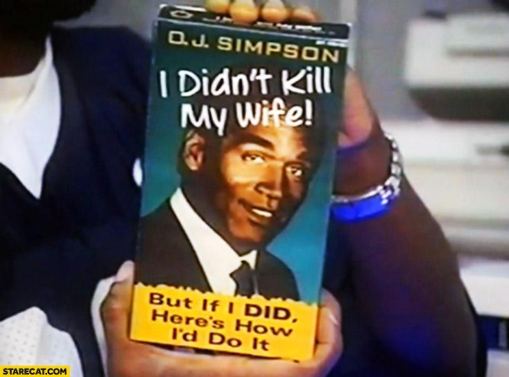 I didn't kill my wife but if I did here's how I'd do it video VHS