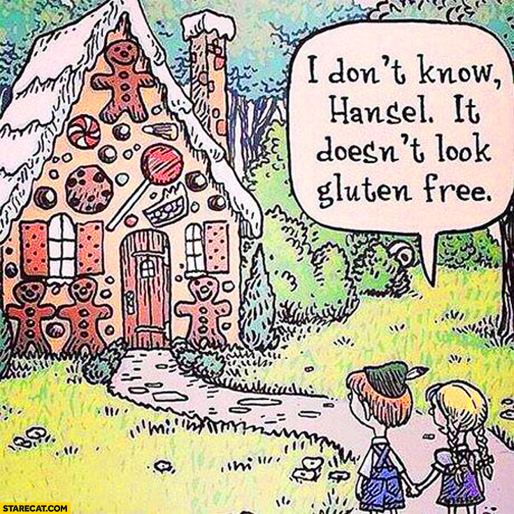 I don't know hansel it doesn't look gluten free cake hut sweet house kids