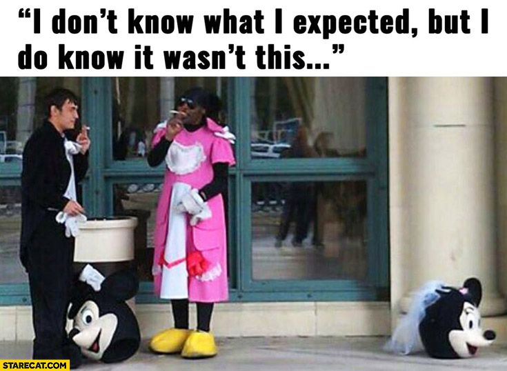 I don't know what I expected but I do know it wasn't this Mickey Mouse cosplay black man