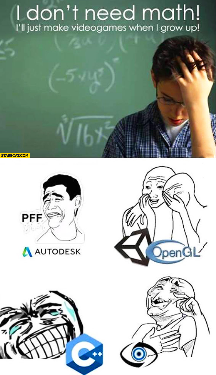 I don' t need math I'll just make video games when I grow up Autodesk OpenGL C++