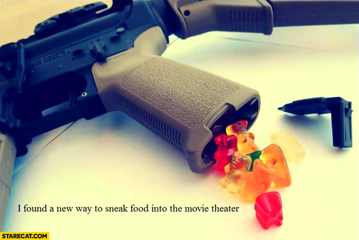 I found a new way to sneak food into the movie theater inside a gun