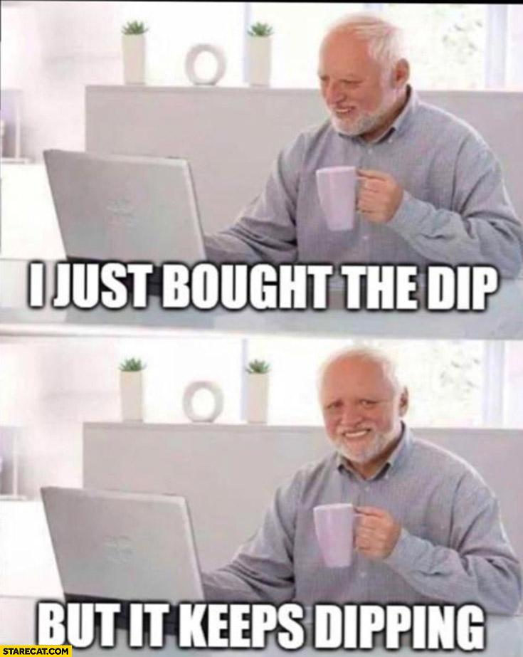 I just bought the dip but it keeps dipping Harold