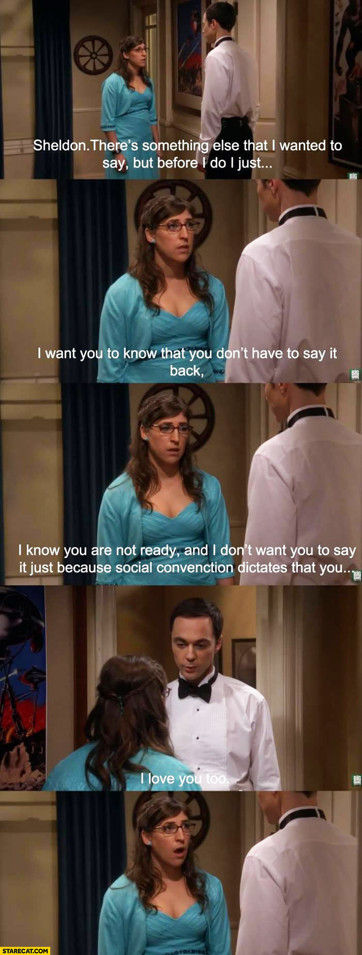 I love you too Sheldon Big bang theory