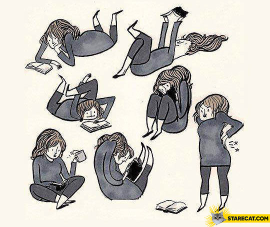 I suffer from reading books book pain