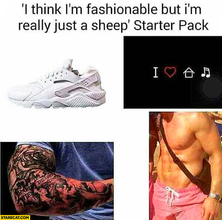 I think I'm fashionable but I'm really just a sheep starter pack