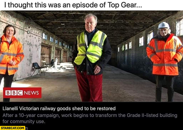 I thought this was an episode of Top Gear Grand Tour