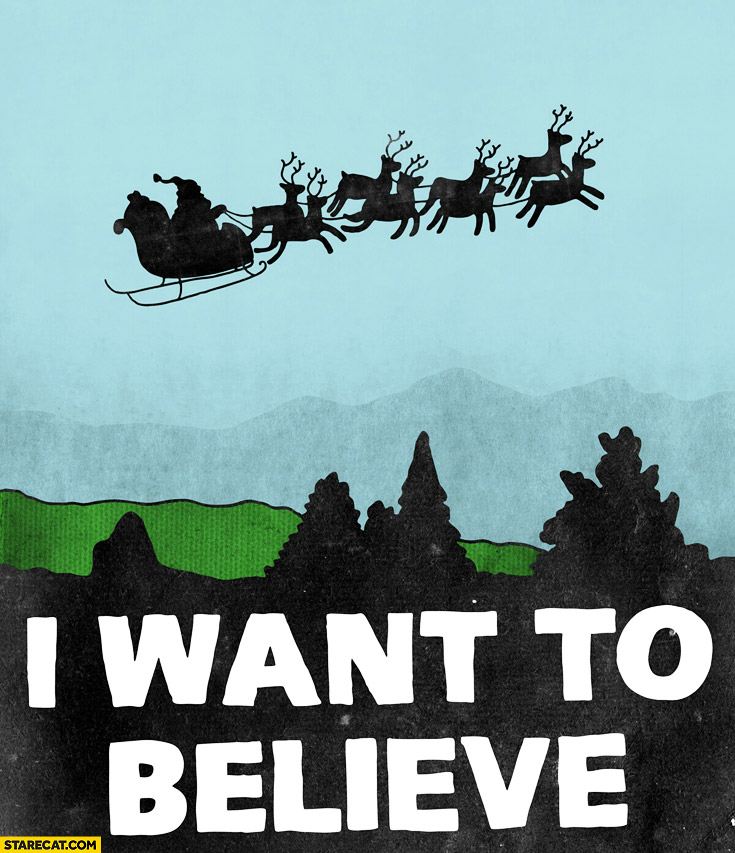 I want to believe Santa Claus UFO