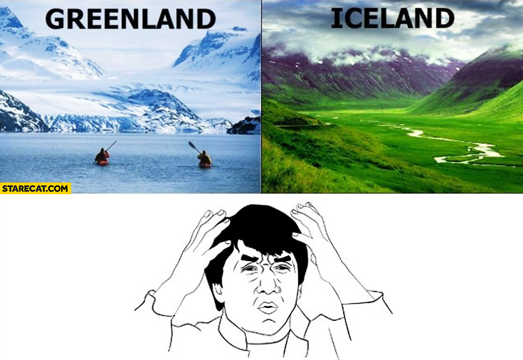 Iceland Greenland messed up names why