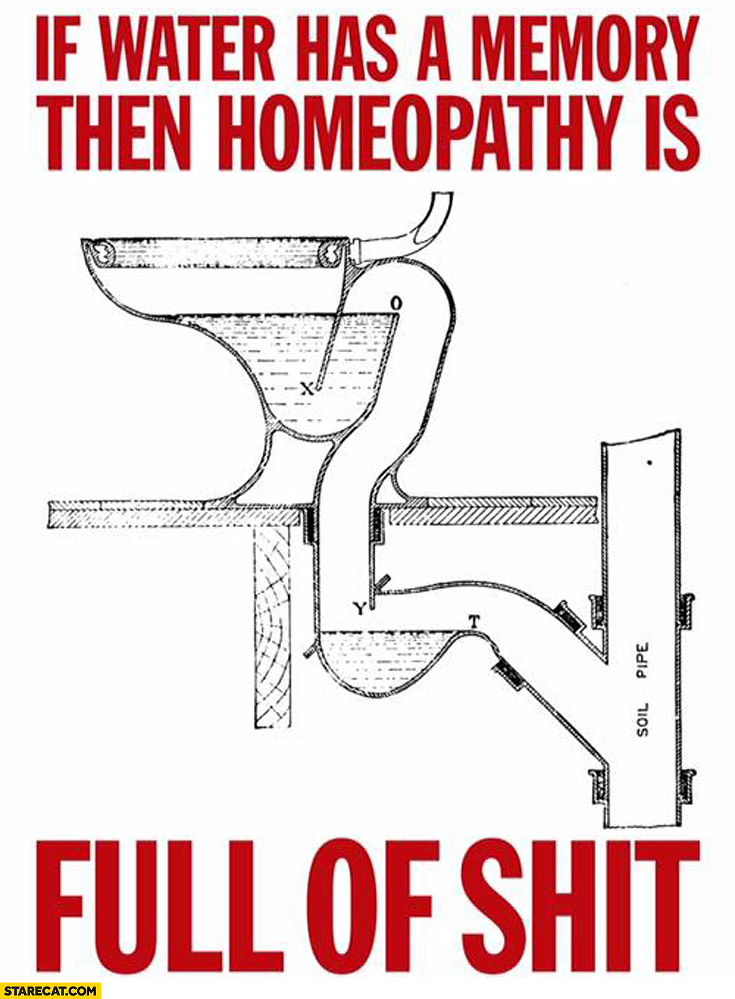 If water has a memory then homeopathy is full of shit