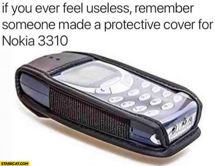 If you ever feel useless remember someone made a protective cover for Nokia 3310