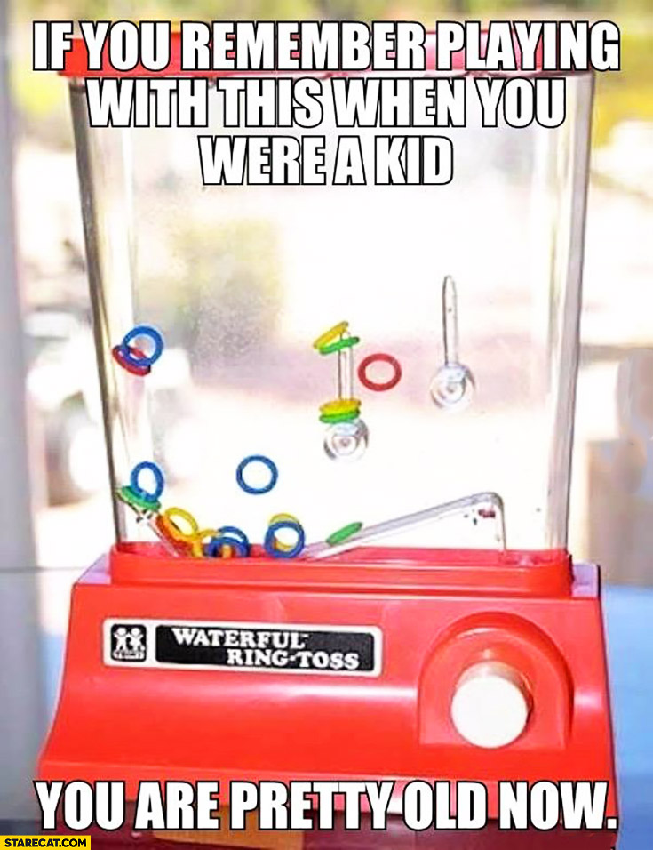 If you remember playing with this when you were a kid you are pretty old now. Waterful ring-toss