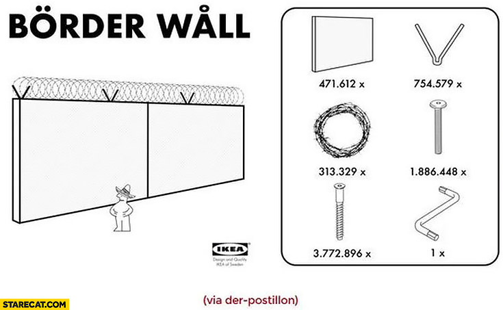 Ikea border wall kit for Donald Trump