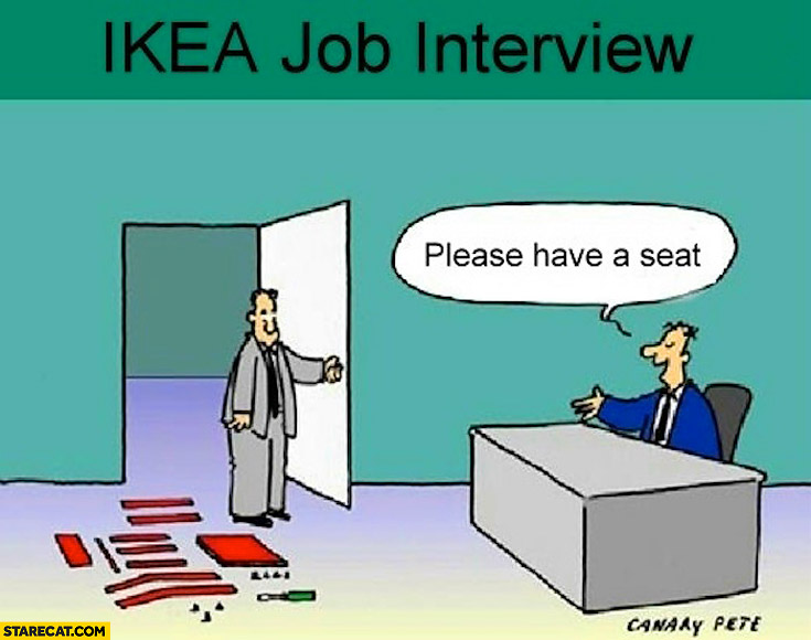 Ikea job interview please have a seat