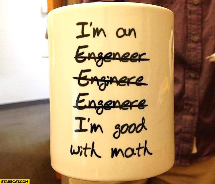 I'm good with math mug