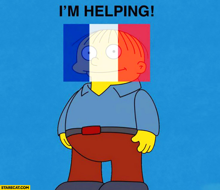 I'm helping French flag facebook profile picture terrorist attacks The Simpsons Ralph Wiggum