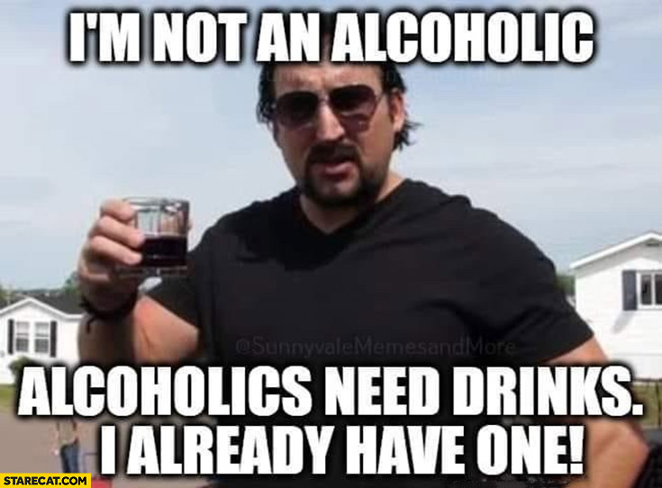 I'm not an alcoholic they need drinks I already have one Julian trailer park boys