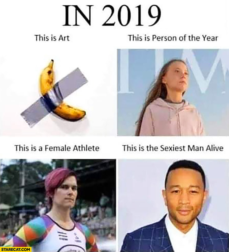 In 2019 this is art this is person of the year this is female athlete this is the sexiest man alive