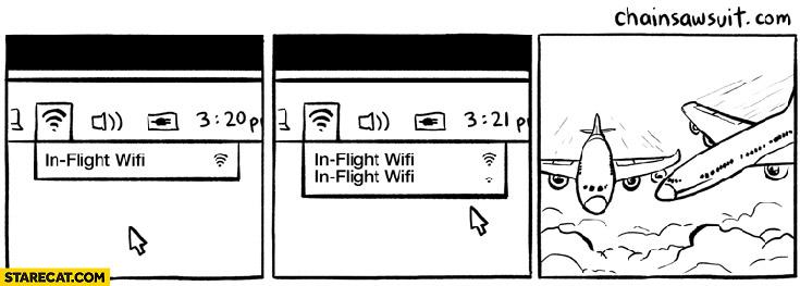 In-flight WiFi planes crash