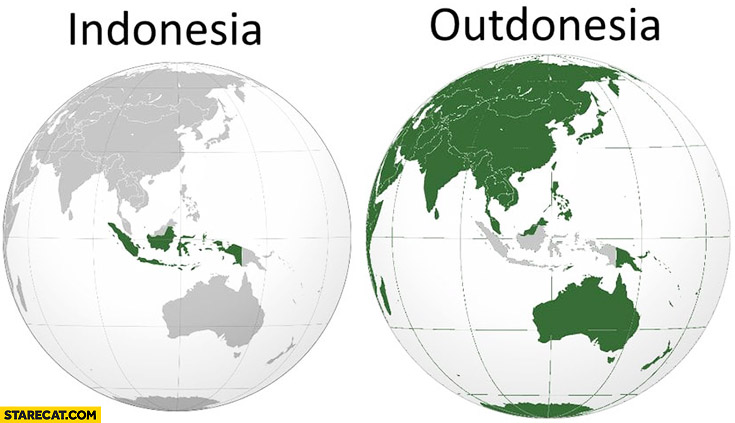 Indonesia Outdonesia world map