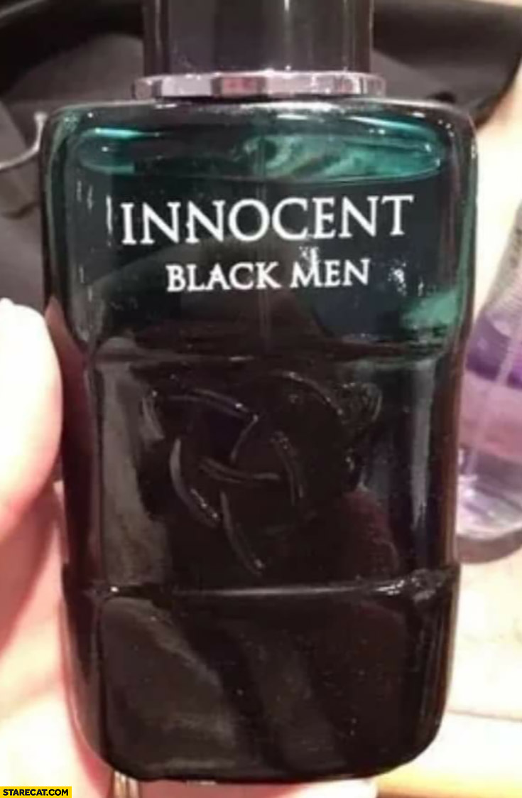 Innocent black men fragnance perfume