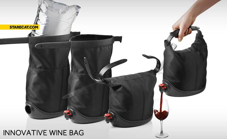 Innovative wine bag